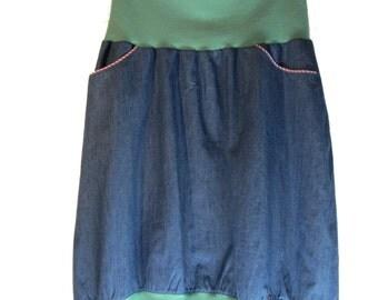 Jeans balloon skirt for women