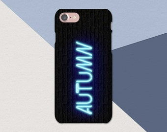 Neon Blue Custom Name iPhone Case, Custom iPhone 7 Case, iPhone 6 Case, Plus, Personalized iPhone Case, Custom Name Phone Case, Neon Name