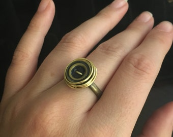 Button And Wire Ring