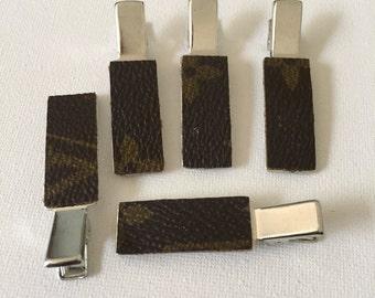 Handmad LV hair clip