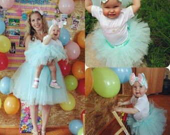 Mommy and daughter Tutu set, 1st Birthday Tutu Outfit , Birthday Tutu Set , First Birthday Tutu Outfit, second Birthday Outfit