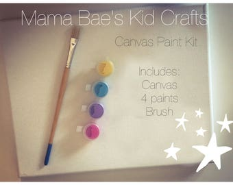Kids craft canvas paint set * great for kids holidays parties father's Mother's Day * choose your colors