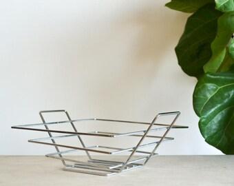 Mid Century Basket Chrome