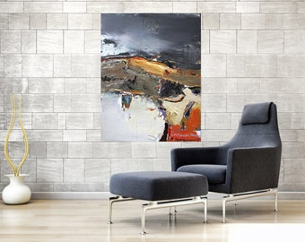 Big size abstract painting decorate modern interior