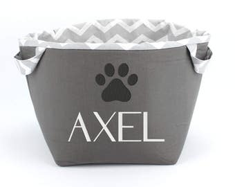 Personalized Embroidered Fabric storage baskets - Customized dog toy box
