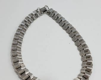 Unique & Elegant Silver Tone Linked Chain Necklace by Rhythm
