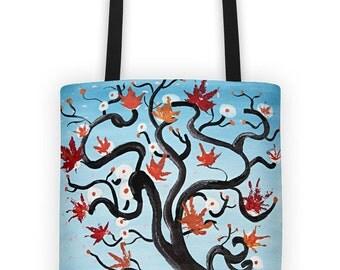 Tote bag original design - Tree spirits -