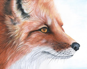 Fox Print / Fox Art / Wildlife Print / Original Print / Wildlife Art / Animal Print / Fox Painting