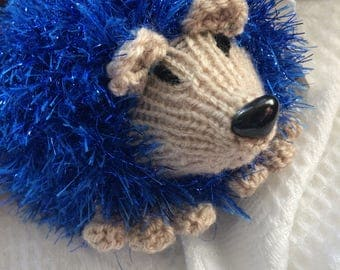 Hand knitted hedgehog toy/gift