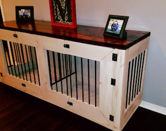 hand crafted dog kennel kennel wood dog kennel dog crate wood dog - Decorative Dog Crates