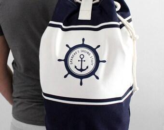 Personalised Sailing Canvas Duffle Bag