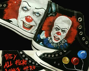Converse shoe hand painted shoes custom painting Pennywise