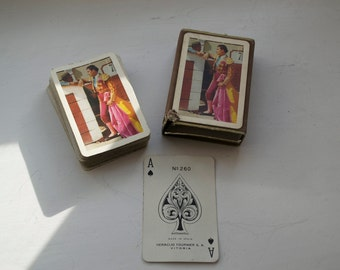 Vintage Playing Cards Matador Bull Fighter Heraclio Fournier Vitoria Spain Box