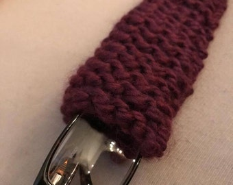 Purple Knitted Glasses Case