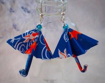 Origami Umbrella Dangle Earrings
