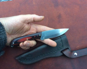 Hunting / utility fixed blade sheath knife