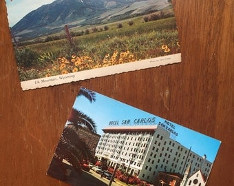 Vintage Set of Postcards (2 Unused!)