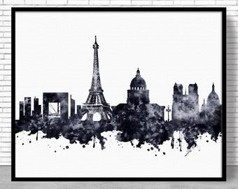 Paris Decor, Paris Print, Paris Skyline, Paris France, Paris Poster, Paris Art Print, Paris Wall Art, Cityscape Art, ArtPrintZone