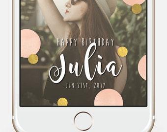 Birthday Snapchat Filter, Gold Snap Filter, 30th Birthday Geofilter, 21st Birthday Snapchat, Snapchat Geofilter Birthday, Polka dot party