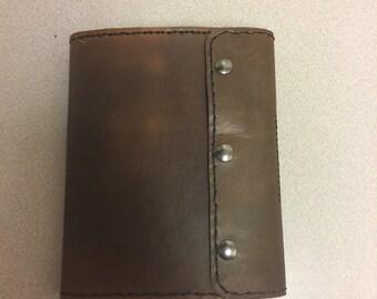 "Custom made leather portfolio for 5"" x 8"" legal pad"