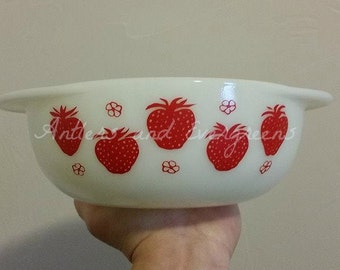 Rare Strawberry Pyrex Decal