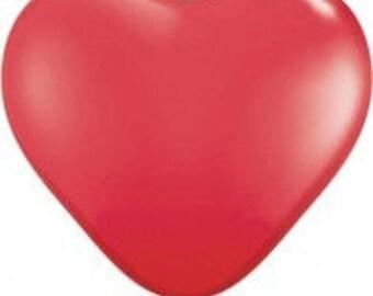 Jumbo 90cm Heart Red Balloon