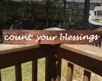 Count your blessings Pallet sign