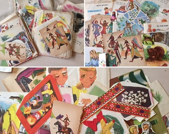 Vintage Craft Clippings - Children's Book - Scrapbooking - Art - Ephemera