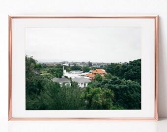 Landscape Photography, City, Urban, Green, Download Digital Photography, Print, Downloadable Image, Printable Art, Artwork