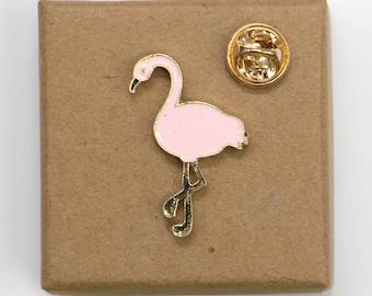Free Shipping! Pink Flamingo Enamel Pin.