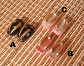 RESERVED  Three doll kimono sandals (Zori) for Barbie and other similar dolls