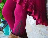 Dance leggings, Boho pants for women, Psy Leggings, Festival wear for her, Pixie pants, Fairy Chic, Funky fashion, Tribal Legwear, Goa style
