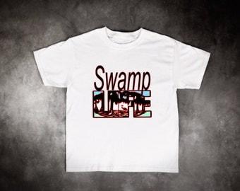 Adult T-shirt, Swamp Life T-Shirt, Louisiana Swamp Life T-Shirt, Sports T-Shirt, Cajun T-Shirt