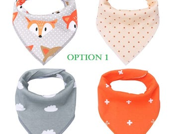 Baby Bandana Bibs - Set of 4