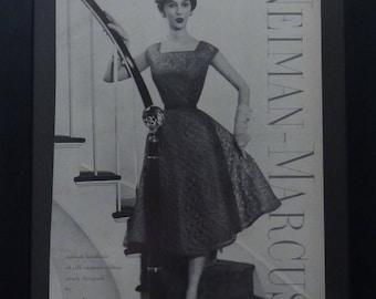 Vintage Magazine Ad, Vogue, 1955, Women's Fashions, Ann Fleischer, Adele Simpson, B Altman&  Co, Vintage Store Decor, Wall Decor