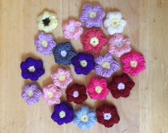 Puffy Flowers Pin-on Accessories (set of 3)