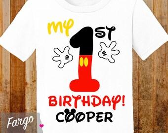 My 1st Birthday - Personalized First Birthday Shirt - Mickey Mouse 1st Birthday