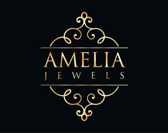 Unique Logo, Custom Design Logo, Logo Design, Ooak Logo, Business Logo, Business Branding, Gold Logo, Posh Logo, Luxury Branding, Logo