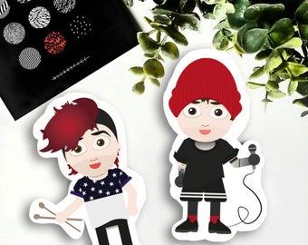 Josh and Tyler (TØP) Stickers