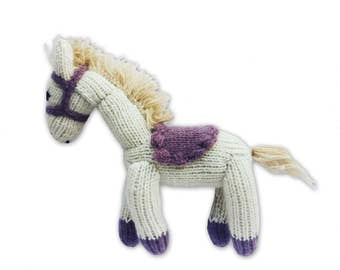 Cashmere Pony for Babies + Little Ones-Handmade Baby Gift. Made at a Women's Center, Nepal-Proceeds support education for Nepali children.