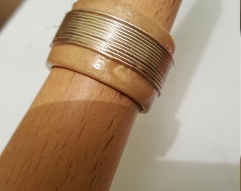 Silver Wire Wrapped Wooden Ring