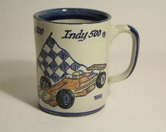 1989 Indy 500 Handmade mug