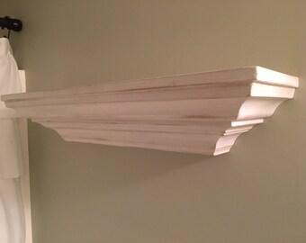 Items Similar To Crown Molding Floating Mantel Shelf