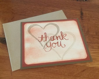 Hearts Handmade Thank You Card