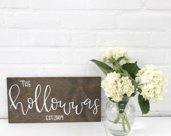 Family Name//Wooden Sign//Welcome Sign