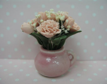 Miniature dolls house flower in vase