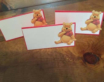 12 Winnie the Pooh Place Food Tent Cards