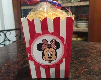 12 Minnie Mouse Mini Party Favor Popcorn Boxes