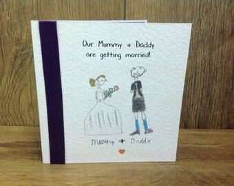 Children drawing themed wedding invitations wedding stationery