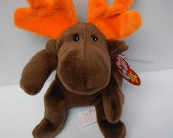 "Rare Original 1993 Ty Beanie Baby ""Chocolate"" the Moose One of the First 9 now retired"